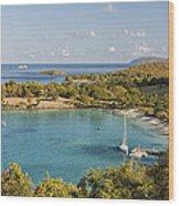 Caneel Bay Panorama Wood Print
