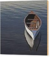 Canoe On Gander River, Gander Bay Wood Print