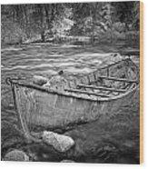 Canoe On The Thornapple River Wood Print