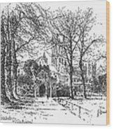 Canterbury Cathedral Wood Print