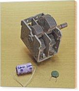 Capacitors Wood Print
