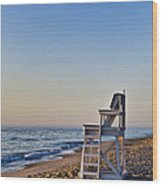 Cape Cod Lifeguard Stand Wood Print