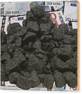 Carbon Trading, Conceptual Image Wood Print