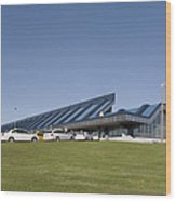 Cars Lining Up For Pickup At The Airport Wood Print by Jaak Nilson