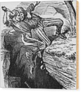 Cartoon: Civil War, 1862 Wood Print