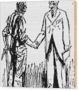 Cartoon: Fdr & Workingmen Wood Print