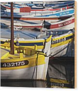Cassis Boats Wood Print