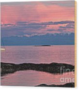 Cattle Point And The Strait Of Juan De Fuca Wood Print