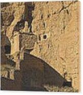 Cave Dwellings Wood Print