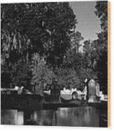 Cemetery Natchez Mississippi Wood Print