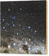 Centaurus And Crux Constellations Wood Print