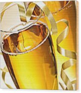 Champagne Glasses Wood Print by Elena Elisseeva