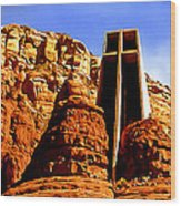 Chapel Of The Holy Cross Wood Print