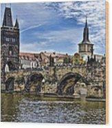 Charles Bridge - Prague Wood Print