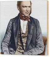 Charles Darwin, British Naturalist Wood Print