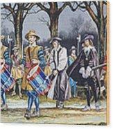 Charles I's Last Walk Wood Print