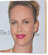 Charlize Theron Wearing A Jennifer Behr Wood Print
