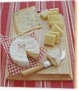 Cheese Selection Wood Print