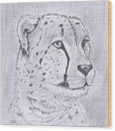Cheeta Watching Wood Print