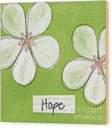 Cherry Blossom Hope Wood Print by Linda Woods
