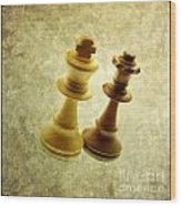Chess Pieces Wood Print