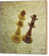 Chess Pieces Wood Print by Bernard Jaubert