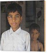 Children Of India Wood Print