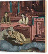 Chinatown Opium Den Wood Print