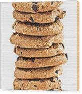 Chocolate Chip Cookies Wood Print