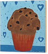 Chocolate Chip Cupcake Wood Print