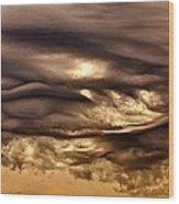 Chocolate Sky Wood Print
