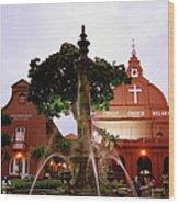 Christ Church In Melaka In Malaysia Wood Print