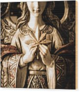 Christmas Angel Wood Print by Julie Palencia