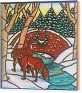 Christmas Bridge Wood Print