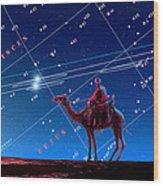 Christmas Star As Planetary Conjunction Wood Print