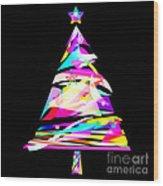 Christmas Tree Design Wood Print