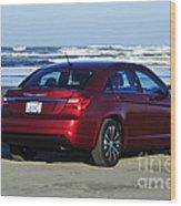 Chrysler At Beach Wood Print