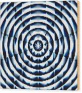 Circle Flower Wood Print