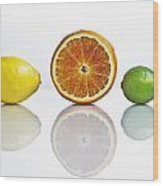 Citrus Fruits Wood Print by Joana Kruse