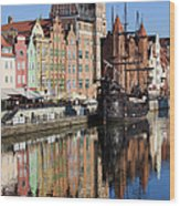 City Of Gdansk Wood Print
