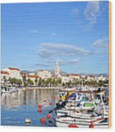 City Of Split In Croatia Wood Print