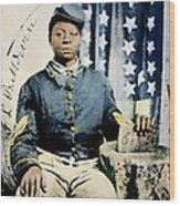 Civil War: Black Soldier Wood Print