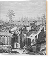 Civil War: Prison, 1864 Wood Print