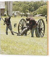 Civil War Reenactment Wood Print