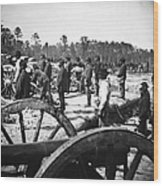 Civil War: Union Artillery Wood Print