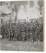 Civil War: Union Troops Wood Print