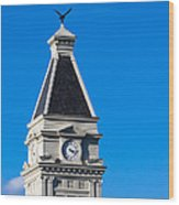 Clarksville Historic Courthouse Tower Wood Print
