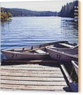 Clear Lake At Mckenzie Pass Wood Print