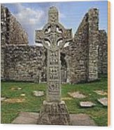 Clonmacnoise, Co. Offaly, Ireland Wood Print