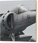 Close-up View Of An Av-8b Harrier II Wood Print